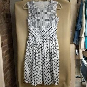 Isaac Mizrahi for Target blue and white midi dress